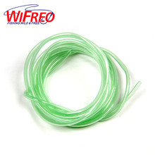 [2m/pack ] Green Luminous Soft Plastic Tube for Fishing / Rig Making Glow Tube Fishing Accessories 1.5mm / 0.8mm