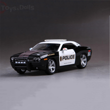 1/18 Dodge Challenger 911 Diecast Model Alloy Car Doors Openable Kids Toys brinquedos Gift Collection(China)