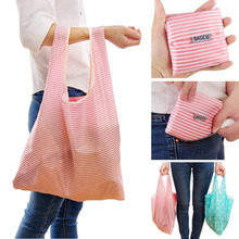 Foldable Shopping Bag Tote Folding Pouch Handbags Convenient Portable reusable handle Bag Large-Capacity Storage Bags 2016 Hot