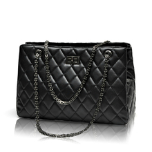2017 Fashion Woman Big Embroidery Bags Ladies Luxury Handbag Women Plaid Chain Shoulder Bag Large Quilted Black Bolsas Femininas