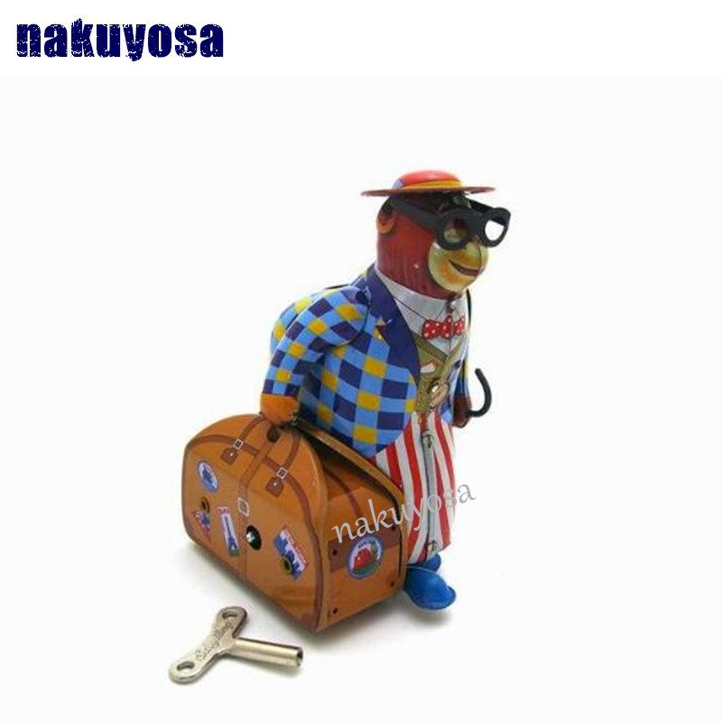 Old monkey Travel clockwork toys  Nostalgia metal monkey Adult Collection best gift<br><br>Aliexpress