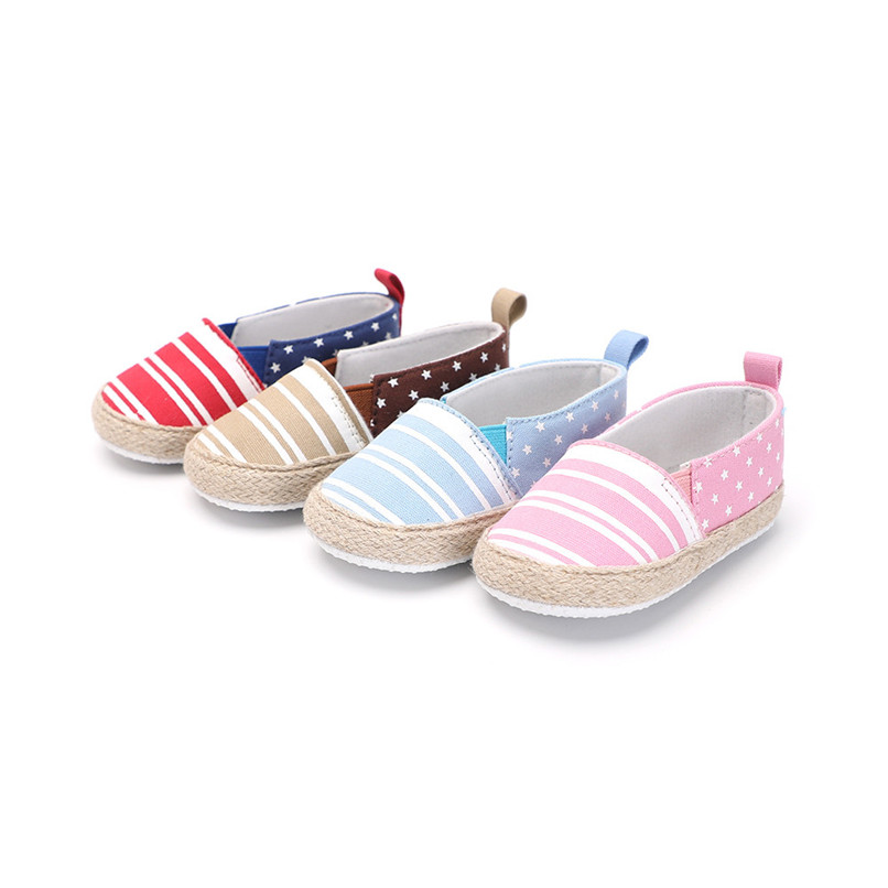 Baby Girl Shoes Toddler Infant Baby Girl Dot Striped Crib Shoes Soft Sole Anti-slip Single Shoes Baby First Walker Shoes M30#F (6)
