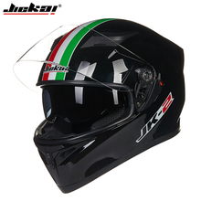 2017 NEW JIEKAI full face motorcycle helmet Double visor Liner removeable casque moto cross MOTORCYCLE HELMETS(China)