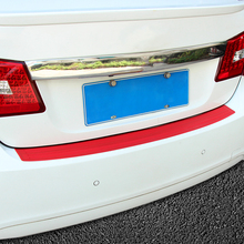 Car trunk bumper trim rear guard plate modified protective strip For Renault Koleos Skoda octavia Fabia Superb Rapid Yeti(China)