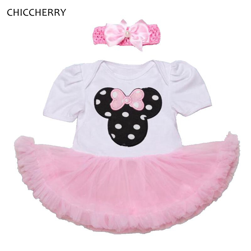 Minnie Applique Newborn Girl Clothes Cute Baby Lace Dress Set Headband Infant Party Tutus Vestido De Bebe Menina Toddler Outfits<br><br>Aliexpress