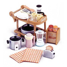 1/12 Dollhouse Miniature Kitchen Room Set Sylvanian Family Restaurant Dining Cart Doll House Furniture Kids Toys(China)
