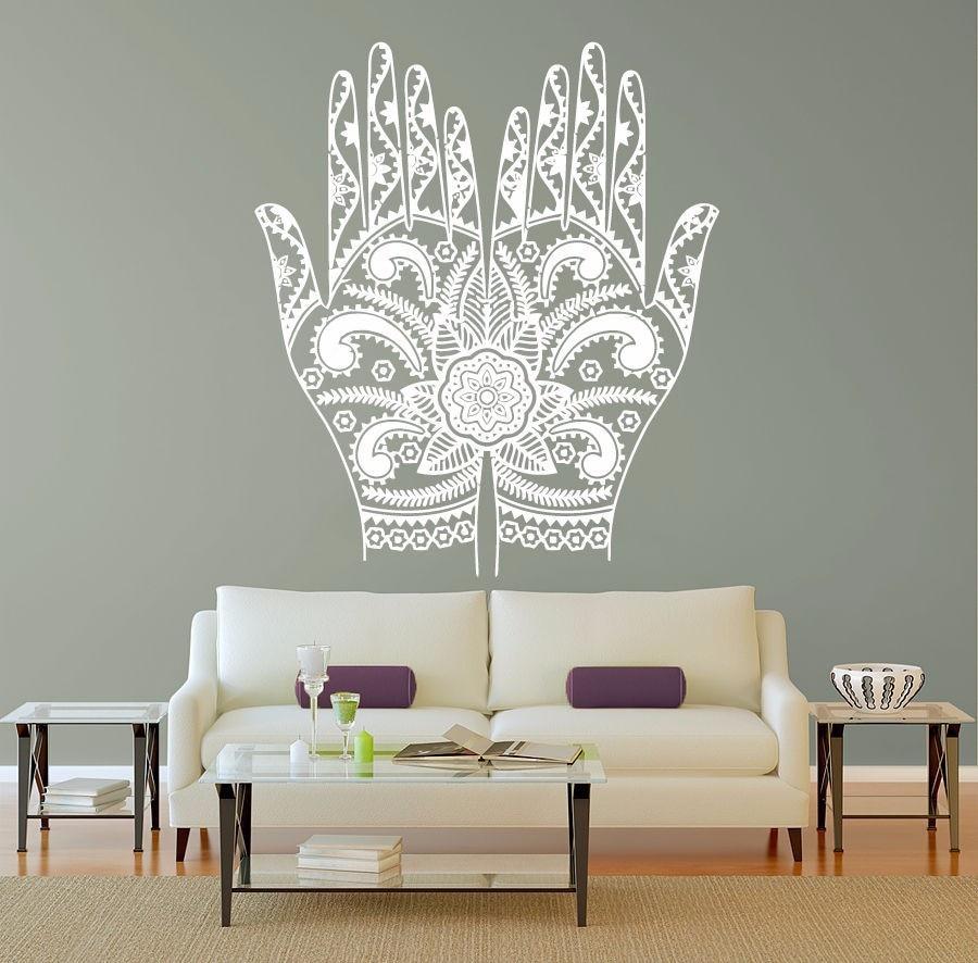 Рисуем мандалы на стене своими руками 64