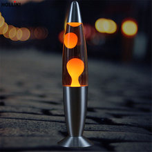 Novelty LED 220v Metal Base Lava Lamp Wax Volcanic Style Night Light Christmas Decorations for Home Baby Kids Desk Table Lamp(China)