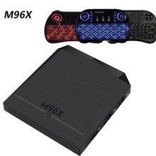 Android 6.0 M96X 2GB DDR 8GB NAND FLASH Mali 450 GPU WIFI S905X Processor Smart TV BOX With LED Indicator Media Player(China)