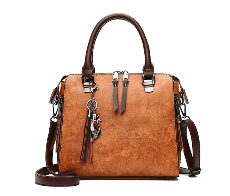 pure leather bag front 2
