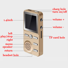 High Quality 8GB MP3 Player Loudly Sound Speaker FM Alarm clock Recorder Multifunction Hifi Lossless Music 4g Players(China)