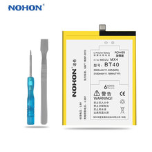 Original NOHON Battery For Meizu BT40 MX4 Lithium Polymer Batteries Replacement High Capacity 3100mAh Free Tools Retail Package(China)