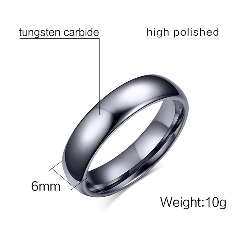 Meaeguet 100% Pure Simple Tungsten Rings For Men 6MM Silver Color Fashion Jewelry Male Wedding Ring (7)