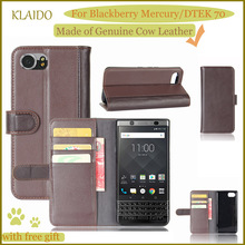 KLAIDO Genuine Cow Leather Mobile Phone Case For Blackberry Mercury Case Blackberry Keyone Genuine Leather Case DTEK 70 Case(China)