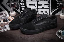 Vans old skool classic Mens Unisex all black low to help canvas shoes, Sports shoes, Vans shoes Canvas Fencing shoes size 40-44(China)