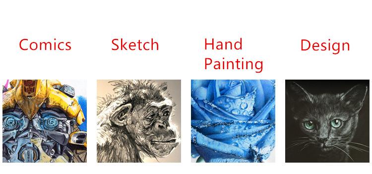 0.7mm White Gold Silver Brighten Gel Pen Line Draw Pen Liner for Art Marker Design Comic Manga Painting Supplies Highlight Pen 2