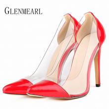 2017 Spring Autumn Sexy Patent Leather Women Pumps High-heeled Shoes Plus Size Black High Heels Wedding 42 XP40 - GLENMEARL Official Store store
