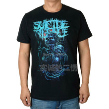 Horrible Blue Demon Suicide Silence Rock Brand shirt 3D fitness Punk Hardrock heavy Dark Metal 100%Cotton(China)