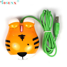 Mosunx Advanced Top Department  high quality New Mini Cute 3D Tiger USB Wired Optical Mouse For Laptop Notebook PC 1PC