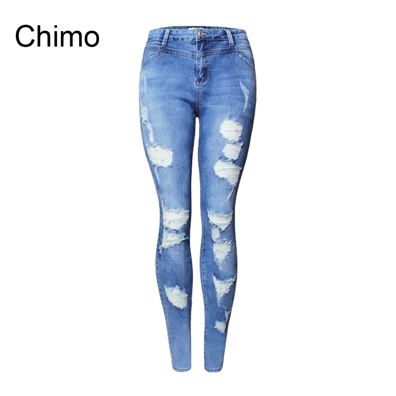 2017 Fashion Casual Women Brand Vintage Skinny Denim Jeans Slim Ripped Pencil Jeans Hole Pants Female Sexy Girls TrousersОдежда и ак�е��уары<br><br><br>Aliexpress