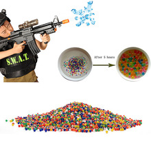 10000Pcs Bullet Ball Mini Round Crystal Soil Water Bead For Water Gun Pistol Toy(China)