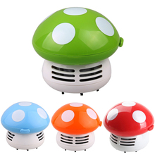 Hot  Cute Mini Mushroom Corner Desk Table Dust Vacuum Cleaner Sweeper Unique small vacuum hand held sweeper  ZH01174