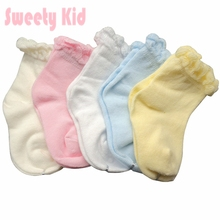 5 pairs/Pack 5 Colors Newborn Baby Socks Spring Summer Short Socks Cotton Socks  Children Infant Boys Girls bebe meias