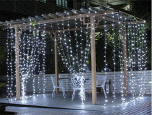 Free Shipping 4 Color 3*3M 300 LED Icicle Curtain String Lights 110V/220V New Year Christmas Holiday Bedroom Home Waterproof(China)