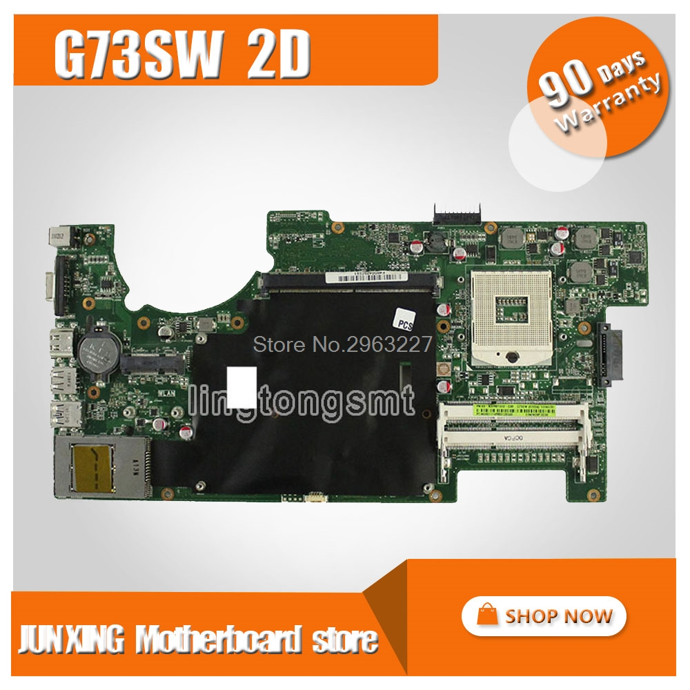 For ASUS G73SW Motherboard rev2.0 HM65 4RAM Slots 2D Connector 90R-N3IMB1000Y Mainboard 100% Tested
