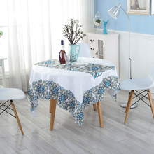 High Quality Textile Products Table Cloth Pretty Flowers Round Tablecloths Waterproof Oil-proof Hotel Supplies Outdoor ZH-3