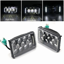 "4x6 Inch 4x6"" Square LED Headlight w/ DRL For Ford Chevy Freightliner FLD 120 Peterbilt Kenworth Trucks H4651 H4652 H4656 H4666"