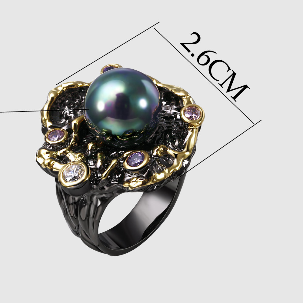gothic pearl rings (3)