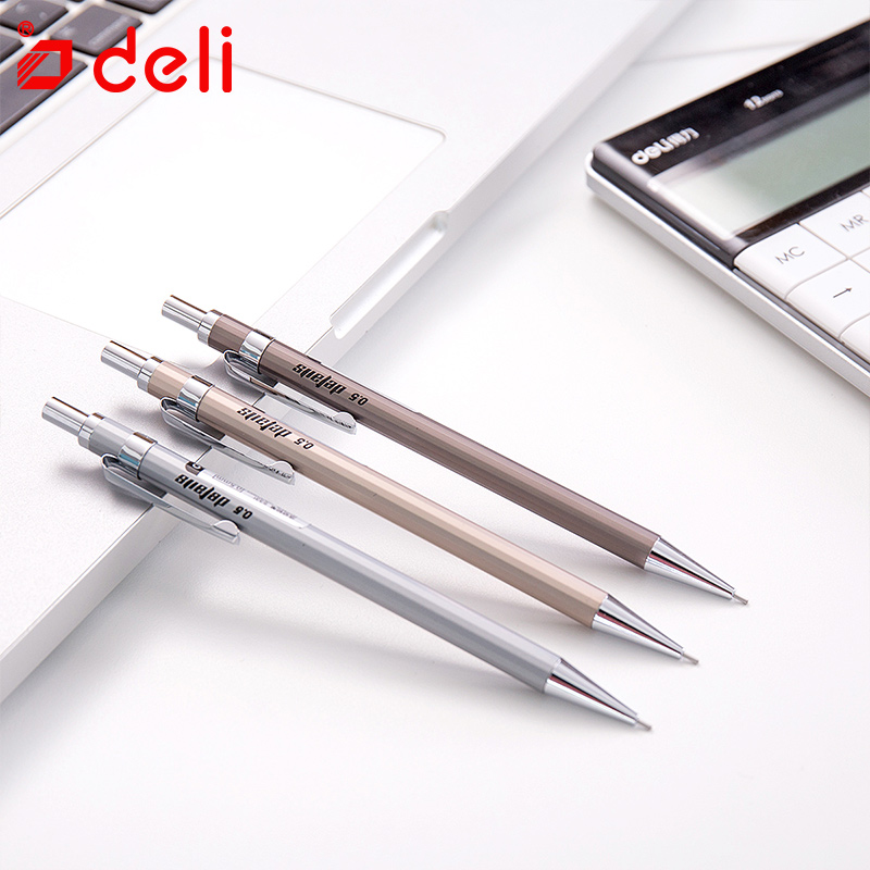 1pc Silver 2.0mm Mechanical Pencil Automatic Pen Pencil School Office Supply ^ZY