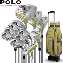 Brand POLO. Womens Female Ladies Golf Clubs Complete Golf Sets Women Golf Clubs Full Set with Wheels Bag Carbon Graphite Shaft