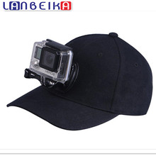 LANBEIKA For Gopro Accessories Baseball Sun Hat Cap with J-HOOK Quick Release Buckle Mount For Go pro Hero 5 4 3+ SJCAM M20 SJ6