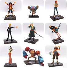 9/Styles One Piece Action Figures Luffy ACE Nami Zoro Robin Sanji Usopp Franky PVC Collection Doll Toy Home Table Decor Gift
