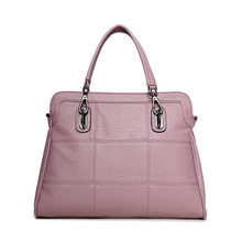2017 New Genuine Leather Women Handbag Female Shoulder Bag Fashion Ladies Totes Famous Brand Pink Bolsa Feminina Crossbody(China)