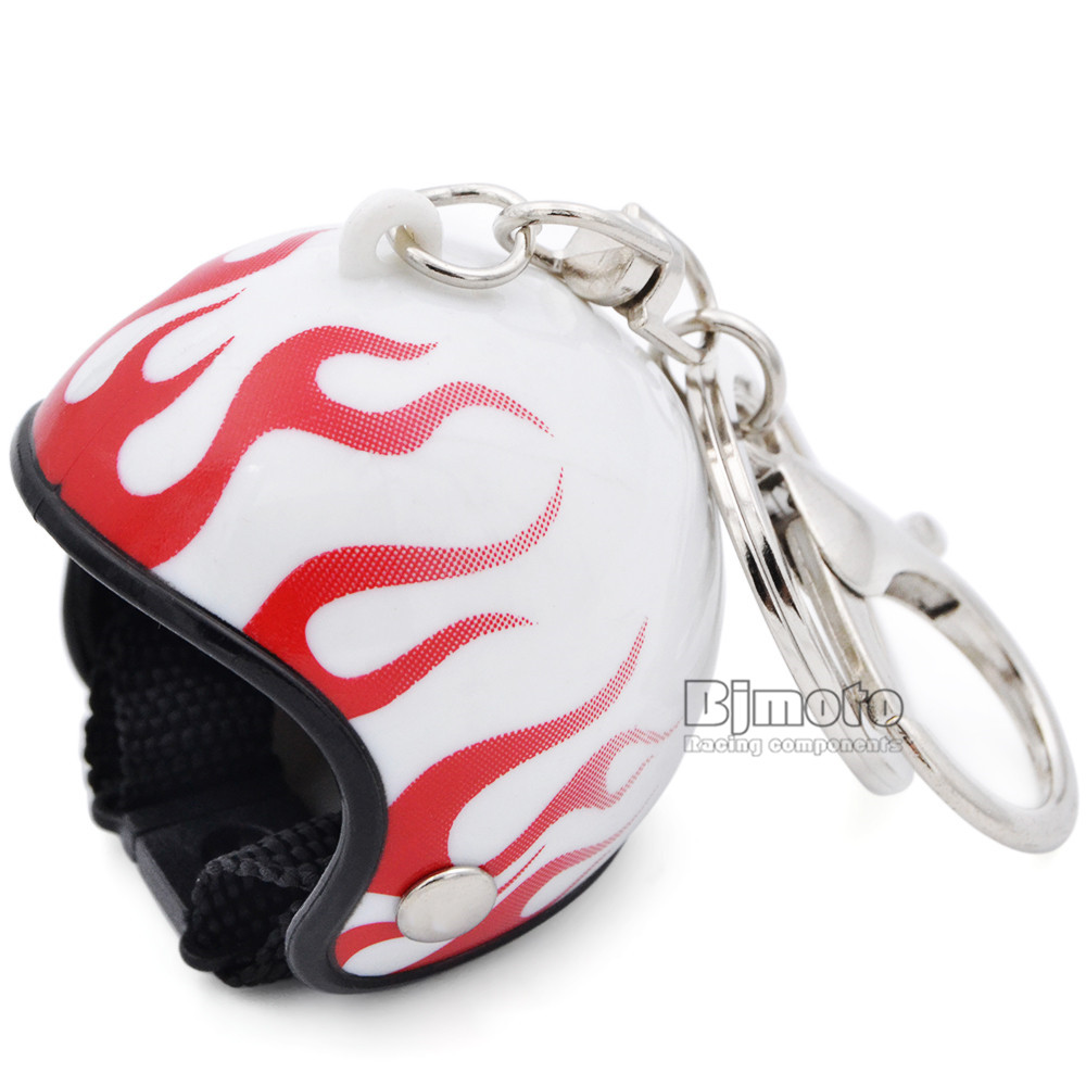 Motorcycle Helmet Key Chain Plastic Casque Keychain Men and Women Key Ring Trendy Key Ring For Car Purse Bag Gift KC-A009 (6)