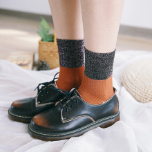 Fashion Meduim socks Cotton South Korea Style Color Double Needle Tube socks Warm Mid Socks Unisex