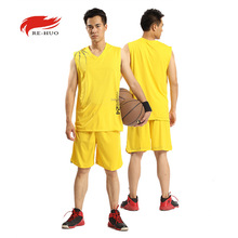 Basketball Jersey Outdoor Quick Dry Men's Summer Basketball Clothing Basketball Jersey Suit Training Wear Uniforms 6 Colors