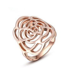 Rings for Unisex Alloy Rose Gold Color hollow Wedding Rings Korea jewelry accessories professional Women Jewellery
