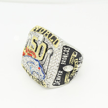 NFL2016 Super Bowl Sunday Denver Broncos National Rugby League Champion Ring BlingBling Jewelry Mens Ring Accessories Size 9-13