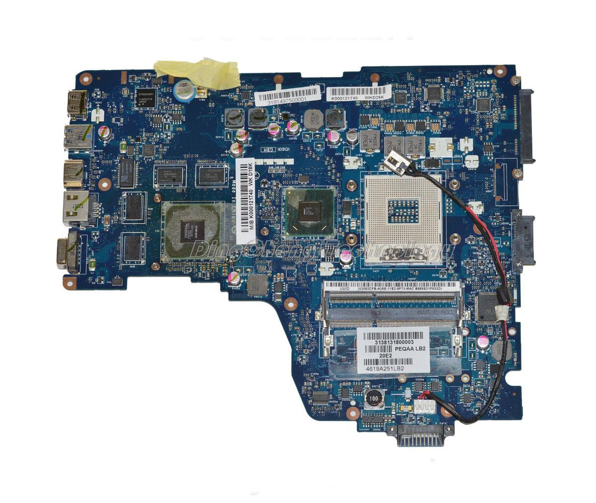 HOLYTIME laptop Motherboard For Toshiba Satellite P750 P755 A665 PHQAA LA-6831P K000125710 HM65 DDR3 GT540/1GB GPU