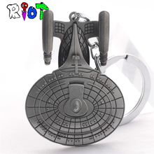 Star Trek Spacecraft U.S.S. Enterprise Air Plane Charm Keychain Key Ring Pendant Film Collection(China)