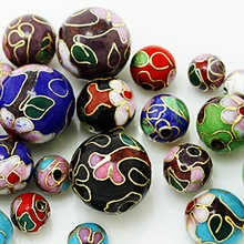 New Arrival 8mm/10mm/12mm 2pcs/lot more colors to choose Beautiful Cloisonne European Enamel Beads Fit for Pendant Jewelry