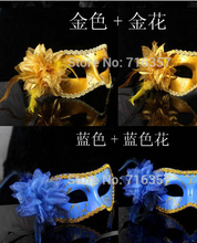 Hot sale Sexy Hallowmas Venetian mask,masquerade masks with flower mask Dance party mask 10pc/lot B198-1
