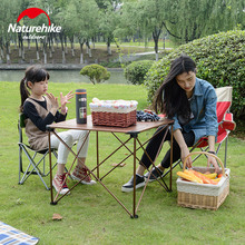 NatureHike New Outdoor Collapsible Camping Table Hiking Picnic Aluminium Alloy Durable Folding Table 2 Sizes
