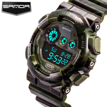 SANDA 2017 Army Military Watch Men Top Brand Luxury Famous LED Digital Sport Wrist Watch Male Clock Electronic Relogio Masculino