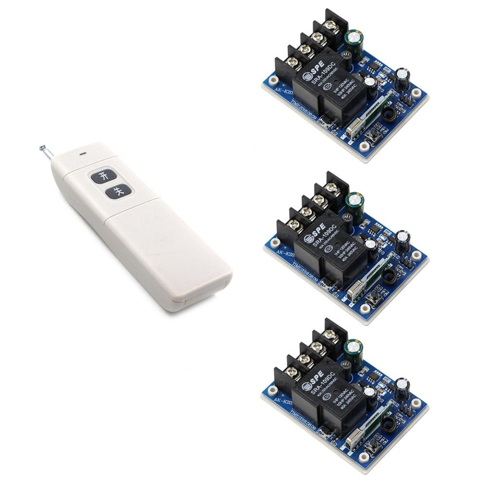 DC 12V 24V 36V 48V Wireless Remote Control Switch Remote Light Switch 40A 1CH Relay Receiver + Long Range Transmitter <br>
