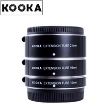 KOOKA KK-FT47A Aluminium Alloy Extension Tube Set TTL Auto Exposure for Olympus Panasonic M 4/3 System Camera (10mm 16mm 21mm)